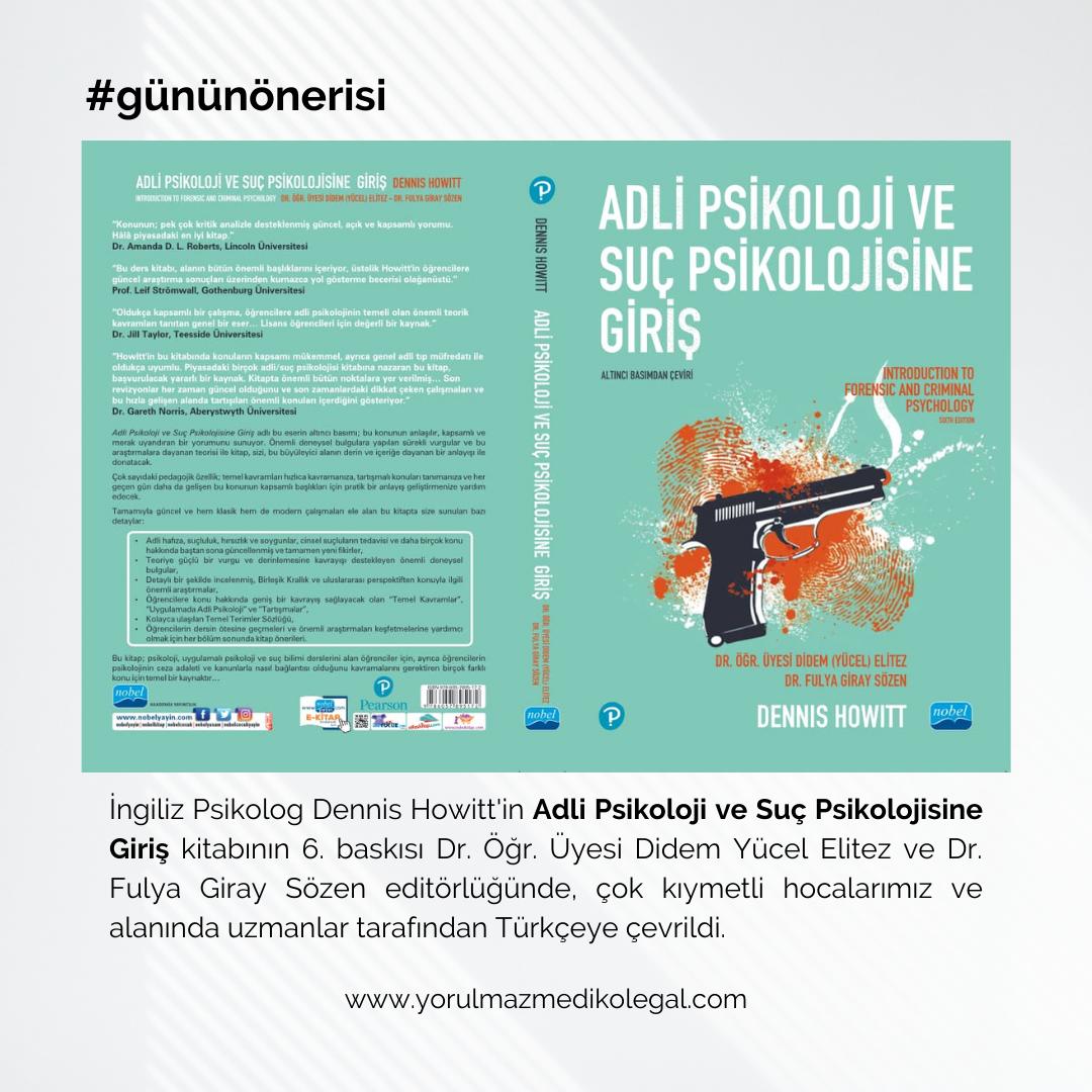 Adli Psikoloji ve Suç Psikolojisine Giriş Kitabı Türkçe Olarak Yayınlandı